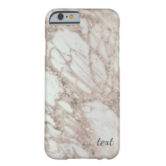 Marble Glam Rose Pink Gold Silver Designer Style Barely There iPhone 6 Case