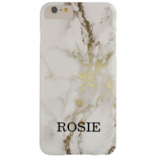 MARBLE GOLD AND WHITE PERSONALISED PHONECASE BARELY THERE iPhone 6 PLUS CASE