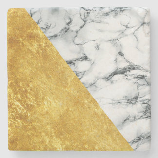 Marble + Gold Stone Coaster