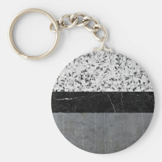 Marble, Granite, and Concrete Abstract Basic Round Button Keychain