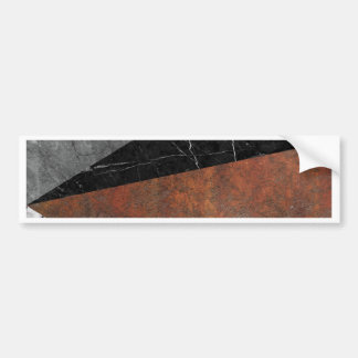 Marble, Granite, Rusted Iron Abstract Bumper Sticker