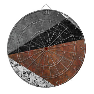 Marble, Granite, Rusted Iron Abstract Dartboard
