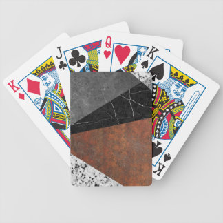 Marble, Granite, Rusted Iron Abstract Poker Deck