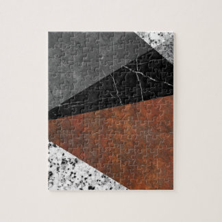 Marble, Granite, Rusted Iron Abstract Puzzles