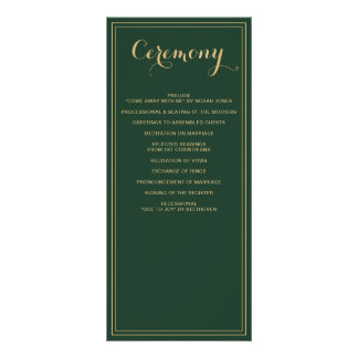 Marble Green and Gold Wedding programs