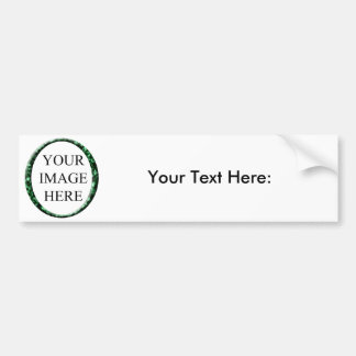 Marble Green Circle Frame Template. Bumper Sticker