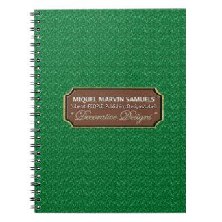 Marble Green Pattern Decorative Modern Notebook