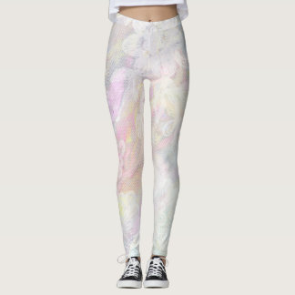 *~* Marble Lace Iridescent Pastel Pinks Blues Leggings