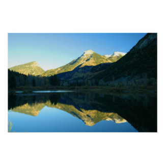 MARBLE LAKE REFLECTION PHOTO POSTER