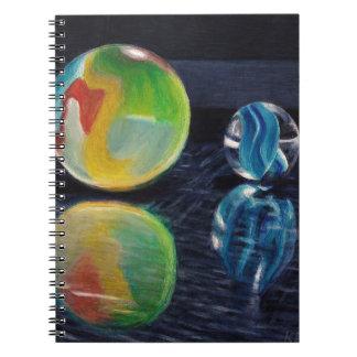 Marble Light Spiral Notebook