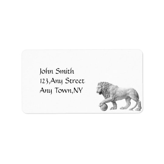 Marble Lion Address Label Template