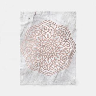 Marble mandala - geometric rose gold blanket