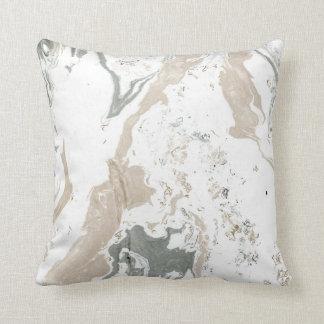 Marble Minimal Home Decor Ivory Creamy Cali White Throw Pillow