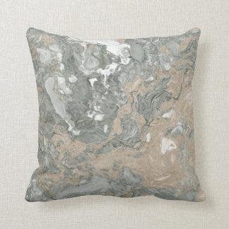 Marble Minimal Home Decor Ivory Creamy Gray Cali Throw Pillow