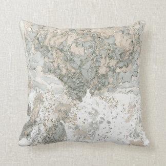 Marble Minimal Home Decor Ivory Creamy Mint White Throw Pillow