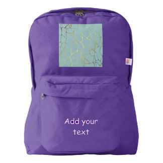 marble,mint,gold,modern,trendy,beautiful,chic,eleg backpack