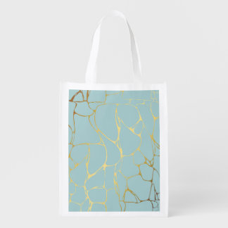 marble,mint,gold,modern,trendy,beautiful,chic,eleg reusable grocery bag