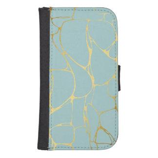 marble,mint,gold,modern,trendy,beautiful,chic,eleg samsung s4 wallet case