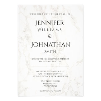 Marble modern wedding invitations