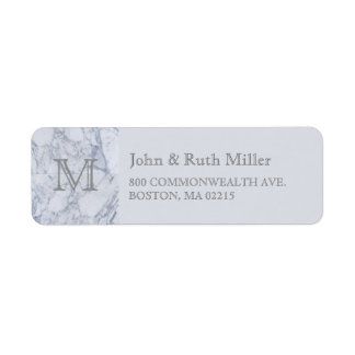 Marble Monogram Return Address Labels