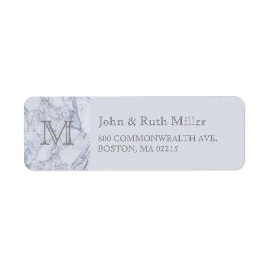 Marble Monogram Return Address Labels