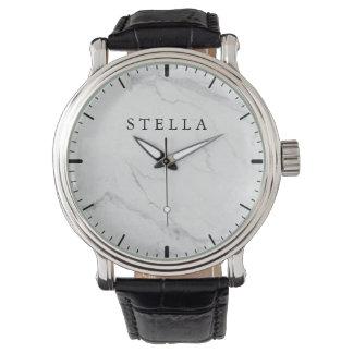 Marble Monogrammed Watch