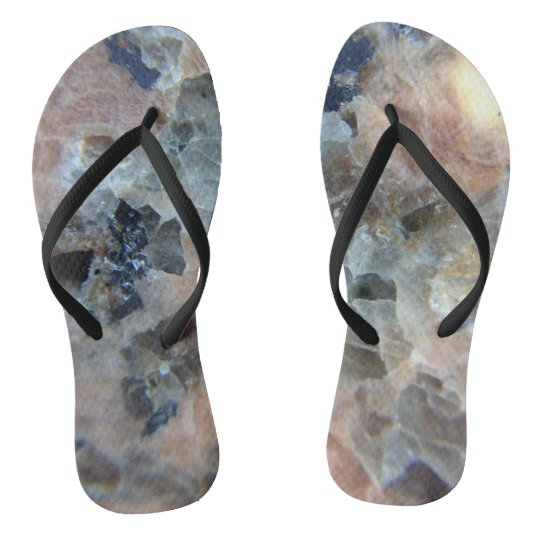 Marble or the cosmos? The mystery under your feet. Flip Flops