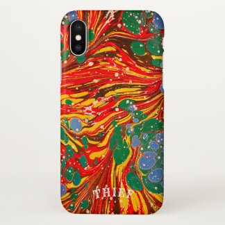 Marble Paper iPhone X Case