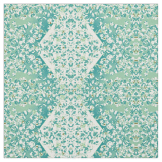 Marble Patch 1 Turquoise & Pale Yellow Fabric