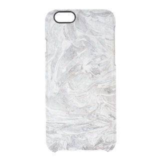 Marble pattern clear iPhone 6/6S case