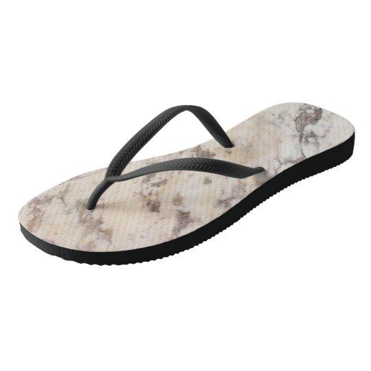 Marble pattern flip flops