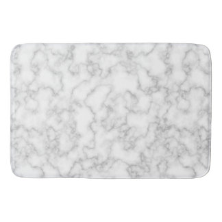 Marble Pattern Gray White Marbled Stone Background Bathroom Mat