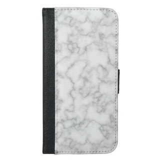 Marble Pattern Gray White Marbled Stone Background iPhone 6/6s Plus Wallet Case