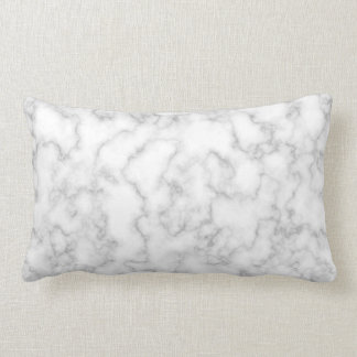 Marble Pattern Gray White Marbled Stone Background Lumbar Pillow
