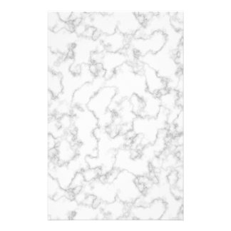 Marble Pattern Gray White Marbled Stone Background Personalized Stationery
