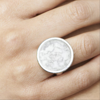 Marble Pattern Gray White Marbled Stone Background Photo Rings