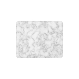 Marble Pattern Gray White Marbled Stone Background Pocket Moleskine Notebook
