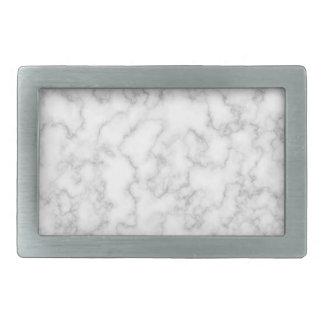 Marble Pattern Gray White Marbled Stone Background Rectangular Belt Buckle