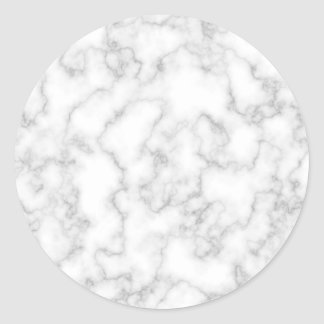 Marble Pattern Gray White Marbled Stone Background Round Sticker