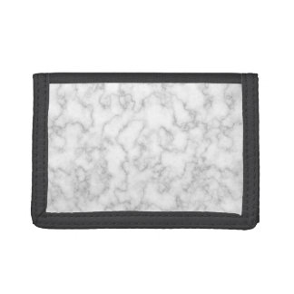 Marble Pattern Gray White Marbled Stone Background Tri-fold Wallet