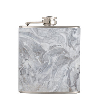Marble pattern hip flask