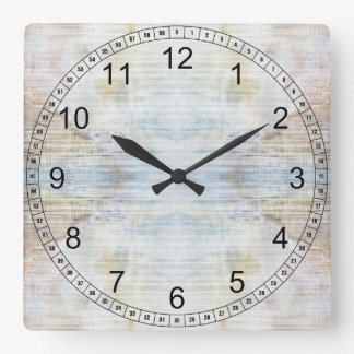Marble Pattern Square Wall Clock