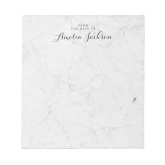 Marble Personalized Notepad Stationery