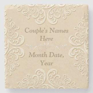 Marble Personalized Wedding Coasters Stone Coaster