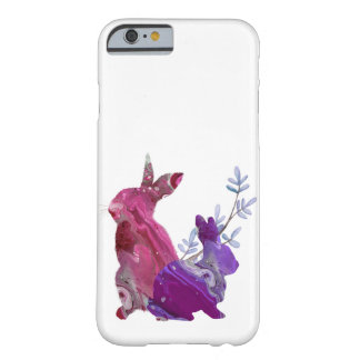 Marble Pink Purple Easter Spring Bunny Rabbit Barely There iPhone 6 Case