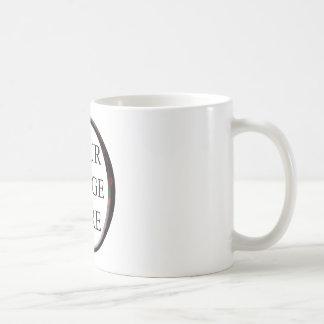 Marble Red Circle Frame Template Classic White Coffee Mug