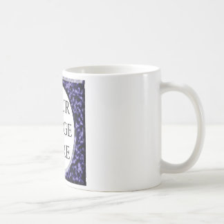 Marble Red Square Frame Template Classic White Coffee Mug