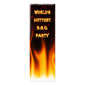 Marble Red World's Hottest BBQ Party Mini Business Card