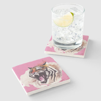 Marble reductor tiger stone coaster