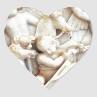 Marble Roman Cherubs Heart Stickers